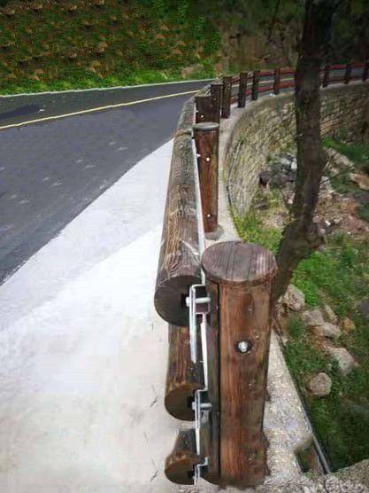 黄平钢背木护栏